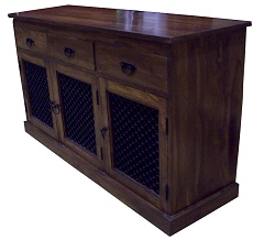 view image for Sheesham Sideboard: Dark wood