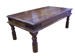 Click to view product details for: Coffee Table Sheesham: Dark wood